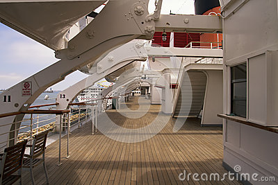 Teakwood Deck of Ocean Liner