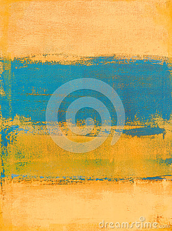 Free Teal And Orange Abstract Art Painting Royalty Free Stock Photos - 40294348