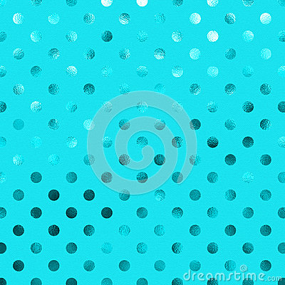 Free Teal Blue Aqua Metallic Foil Polka Dot Pattern Royalty Free Stock Photography - 66945637