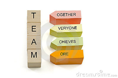 Team Blocks and Sticky Notes