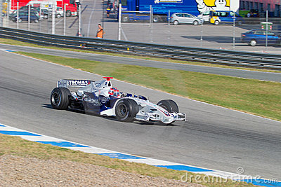 Team BMW-Sauber F1, Robert Kubica, 2006 Editorial Stock Image