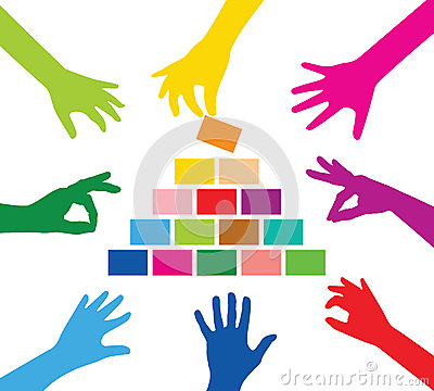 Free Team Building Pyramid Royalty Free Stock Image - 42275206