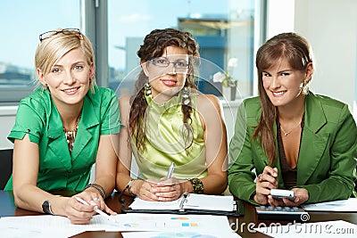 Team of businesswomen