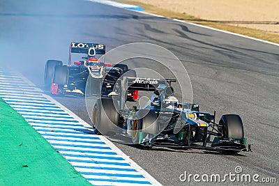 Team Catherham F1, Giedo Van Der Garde, 2012 Editorial Photo