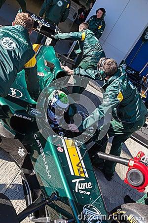 Team Catherham F1, Heikki Kovalainen, 2012 Editorial Photography