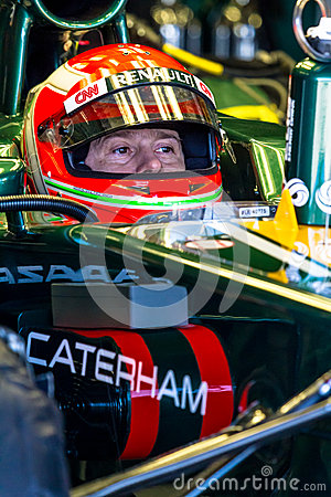 Team Catherham F1, Jarno Trulli, 2012 Editorial Stock Photo