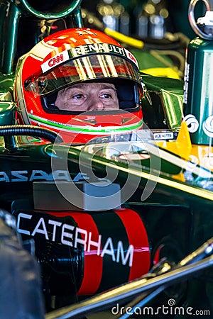 Team Catherham F1, Jarno Trulli, 2012 Editorial Stock Photo