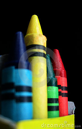 Team of crayons