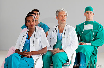 Team of doctors at a conference