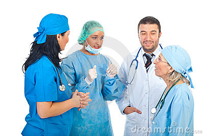 Team of doctors having conversation