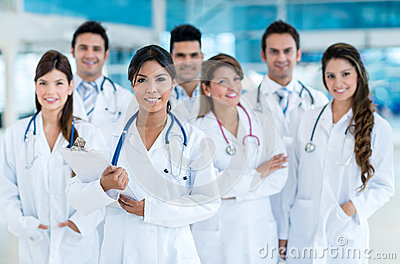 Team of doctors at the hospital