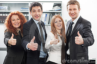 Team express positivity in office