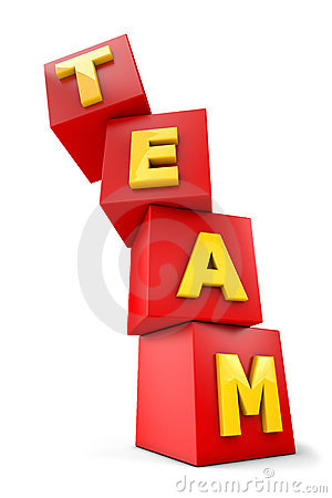 Team falling