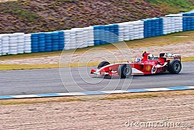 Team Ferrari F1, Marc Gene , 2004 Editorial Stock Image