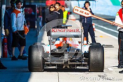Team Force India F1, Nico Hülkenberg, 2012 Editorial Stock Image