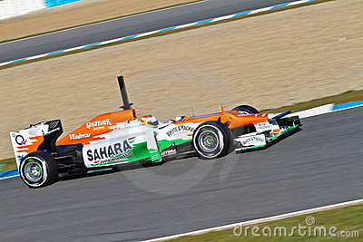 Team Force India F1, Paul Di Resta, 2012 Editorial Photography