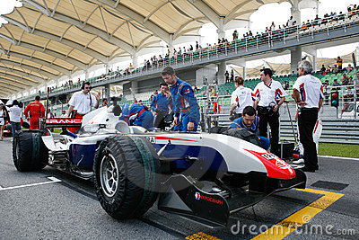 Team France on the starting grid Editorial Photo