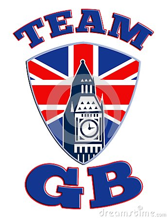 Team GB Big Ben tower clock Great Britain Flag