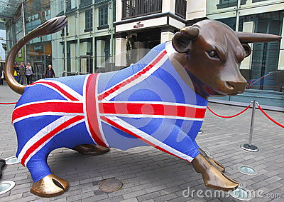 Team GB Bull Olympics 2012 Editorial Photography
