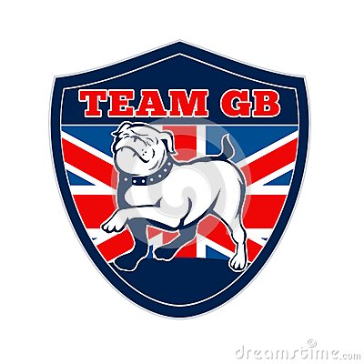 Team GB English bulldog Great Britain mascot