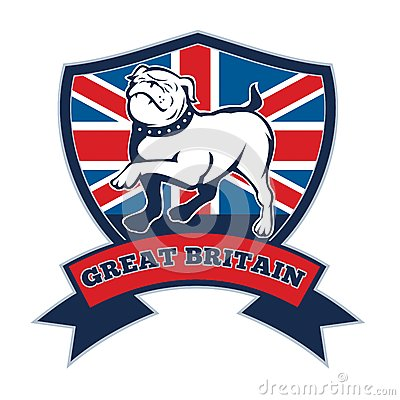 Team GB English bulldog Great Britain mascot