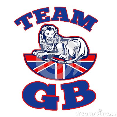 Team GB Lion sitting on Union Jack