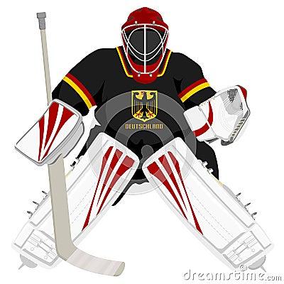Team Germany hockey goalie