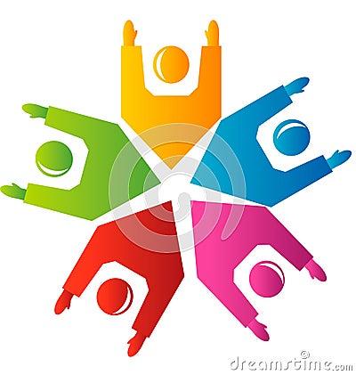 Team hands up logo