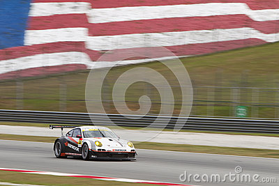 Team Hankook exits turn 2 Editorial Stock Image