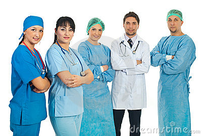 Team of health care workers