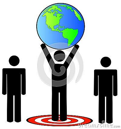 Team hitting global target
