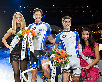 Team Keller Kueng celebrates victory Editorial Stock Image