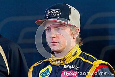 Team Lotus Renault F1, Kimi Raikkonen, 2012 Editorial Image
