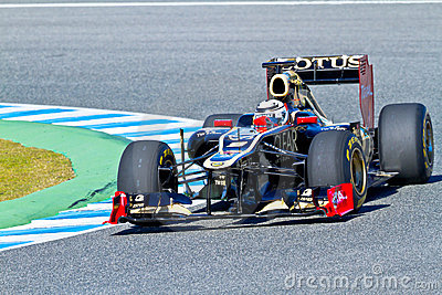 Team Lotus Renault F1, Kimi Raikkonen, 2012 Editorial Stock Photo