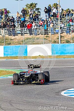 Team Lotus Renault F1, Romain Grosjean, 2012 Editorial Photography