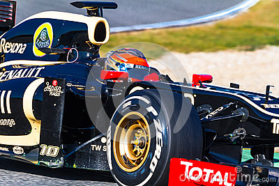 Team Lotus Renault F1, Romain Grosjean, 2012 Editorial Stock Photo