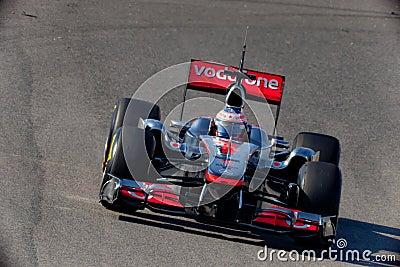 Team McLaren F1, Jenson Button, 2011 Editorial Photo
