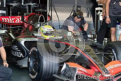 Team McLaren F1, Lewis Hamilton, 2006 Editorial Stock Photo