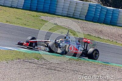 Team McLaren F1, Lewis Hamilton, 2011 Editorial Image