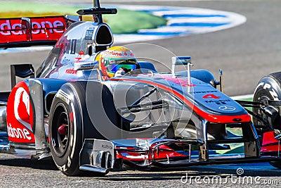Team McLaren F1, Lewis Hamilton, 2012 Editorial Image