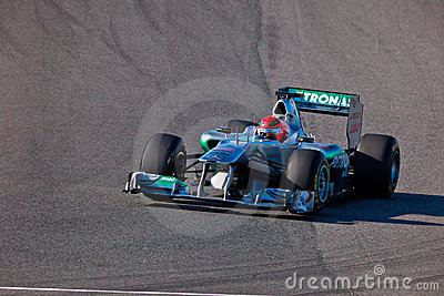 Team Mercedes F1, Michael Schumacher, 2011 Editorial Photography