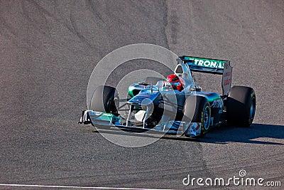 Team Mercedes F1, Michael Schumacher, 2011 Editorial Photography