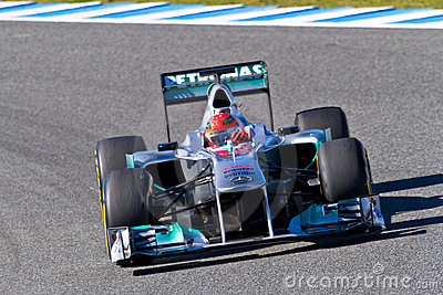 Team Mercedes F1, Michael Schumacher, 2012 Editorial Photography