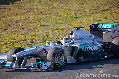 Team Mercedes F1, Nico Rosberg, 2011 Editorial Stock Image