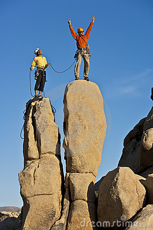 Free Team Of Rock Climbers. Royalty Free Stock Photos - 21760788