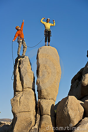 Free Team Of Rock Climbers. Stock Image - 21760871