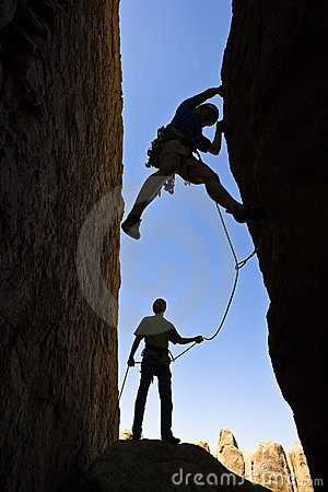 Free Team Of Rock Climbers. Royalty Free Stock Photo - 6357635