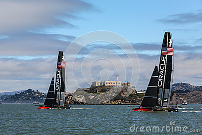 Team Oracle & Alcatraz Editorial Stock Photo