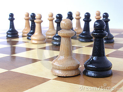 Team of pawns with two leaders