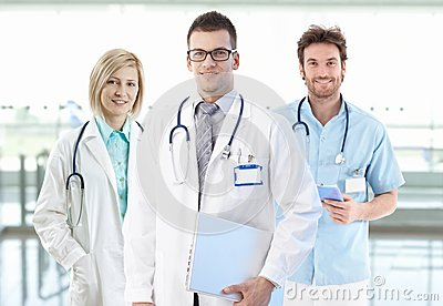 Team photo of young doctors